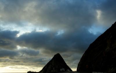 Sunset at Point Mugu Rock